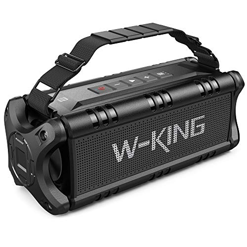 W-KING Cassa Bluetooth, 50W(Picco 70W) Altoparlante Bluetooth Portatili, 24 Ore di Riproduzione Speaker Bluetooth, 8000mAh Batteria Power Bank, Potente Casse Bluetooth Impermeabile con Bassi, NFC, TWS