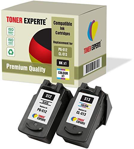 Pack de 2 XL TONER EXPERTE Compatibles PG-512 CL-513 Cartuchos de Tinta para Canon Pixma iP2700, MP230, MP240, MP250, MP260, MP270, MP280, MP480, MP490, MP495, MP499, MX320, MX350 (Negro, Color)