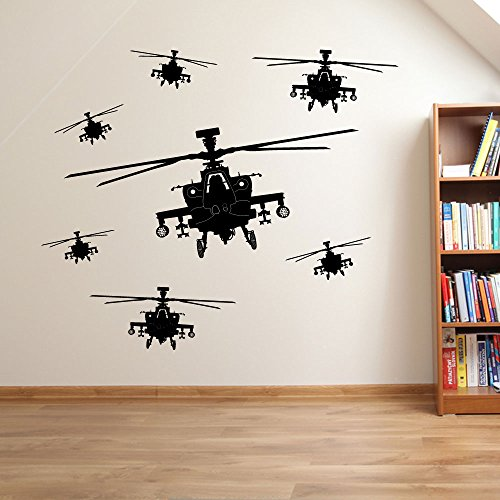 Hélicoptère de l'armée pour homme militaire des soldats Hélicoptère fenêtre de décoration murale Stickers Décoration murale Stickers muraux Décoration murale Stickers muraux Stickers Autocollant mural Stickers panoramique Décor DIY Deco amovible Stickers muraux colorés stickers