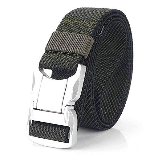 Accesorios de vestir Cinturón táctico - Cinturón Elástico Cinturón Plata Aleación de aluminio Enchufe Hebilla Casual Masculino Jeans Cinturón Estiramiento Cómodo Cinturones Tacticales Luxury Strap cóm