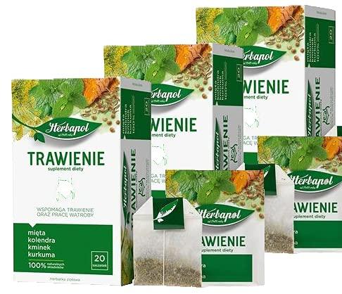 Digestión + trabajo hepático, Infusión té de hierbas HERBAPOL, Paquete de Ahorro 3 x 40 g (20 sobres x 2 g)
