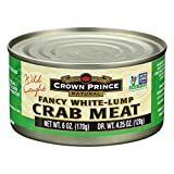 Crown Prince Fancy White Crab Meat, 6-ounce Cans (Pack of 6)