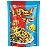 Sunfeast YiPPee! Tricolor Pasta, Cheesy and Soft Suji Rawa Pasta, Creamy Corn, 65g Pack