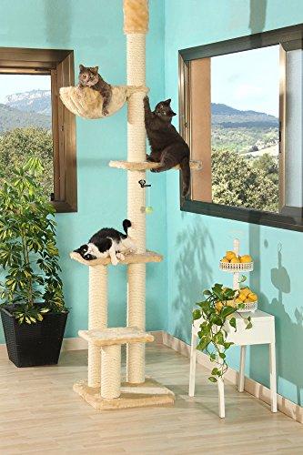 CLEVERCAT Deckenkratzbaum Mira. Extrem stabil. schlank geschnitten. Qualität Made in Germany mit Einzelteilnachkaufgarantie!