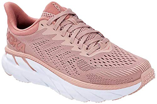 Hoka One Women's Clifton 7 Misty Rose/Cameo Brown Sneakers