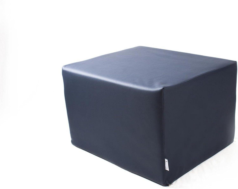 Stufenlagerungswürfel mit Bezug Kunstleder Standard dunkelblau