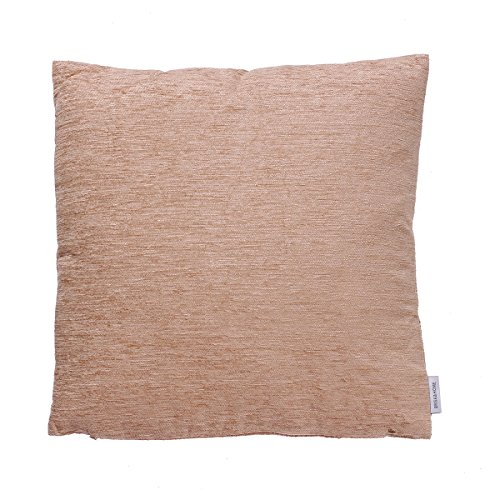 B&H Cojín, Poliéster y Chenilla, Beige, Individual, 45x45x5 cm