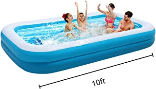 OTLIVE Large Family Inflatable Swimming Pool for 1-7 People & Thickened Abrasion Resistant Inflatable Pool with Inflator