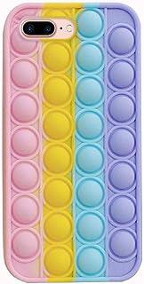 Uposao Compatibel met iPhone 7 Plus / iPhone 8 Plus telefoonhoes Fidget speelgoed stressvermindering fidget speelgoed bubb...