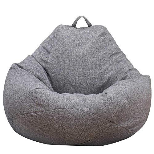 Dandelionsky Klassischer Sitzsackbezug, Bezug für Sitzsack, Faulenz-Liege, für Erwachsene und Kinder,  ohne Füllung, grau, 70x80cm