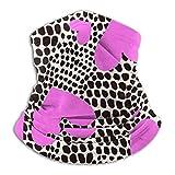 Hearts On Animal Spots Print Bufanda de polaina de cuello sin costuras Bufanda de bandana sin costuras