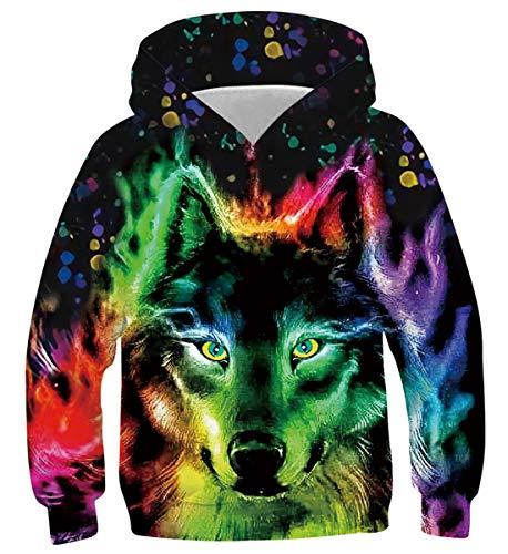 Belovecol Wolf Hoodie Jumpers Long Sleeve Funny Hooded Pullover Sweatshirt...