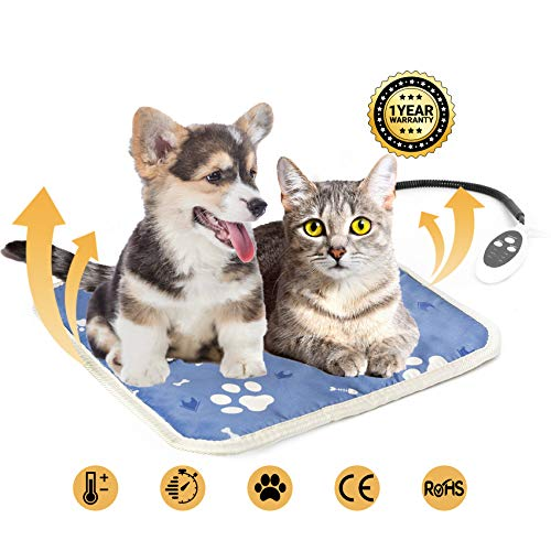 Heated Cat Bed, Pet Heating Pad for Kittens, Cats, Puppies...