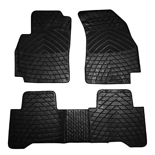 RE&AR Tuning Alfombrillas de goma para Peugeot Bipper 2008-2020, color negro