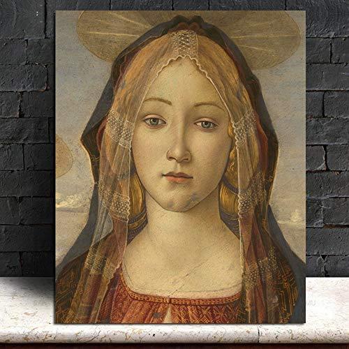 KWzEQ Mädchen Leinwand Malerei Wohnzimmer Hauptdekoration Moderne Wandkunst Ölgemälde Poster Bild,Rahmenlose Malerei,50x60cm