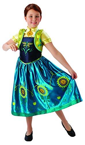 Disney–Prinzessinnen Kostüm Anna Fever Deluxe, für Mädchen, Blau und Gelb (Rubie 's 610904) M Blau und Gelb