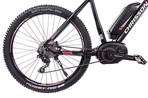 51s26F1vNeL - CHRISSON 27,5 Zoll E-Bike Mountainbike Bosch - E-Mounter 2.0 schwarz 52cm - Elektrofahrrad, Pedelec für Damen und Herren mit Bosch Motor Performance Line 250W, 63Nm - Intuvia Computer und 4 Fahrmodi