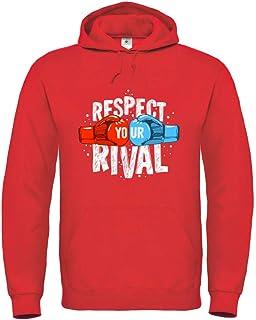 Druckerlebnis24 Sudadera con capucha unisex para niños y niñas de Respect Your Rival Boxing.