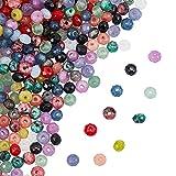 nbeads 240 Stück Natürliche Facettierte Perlen, 12 Farben Malaysia Jade Rondelle Perlen Gefärbte Edelstein-Abstandsperlen Für DIY Schmuckherstellung Jewelry