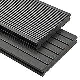vidaXL WPC Terrassendielen Massiv 16m² 2,2m 20mm Grau Komplettset Holz Diele