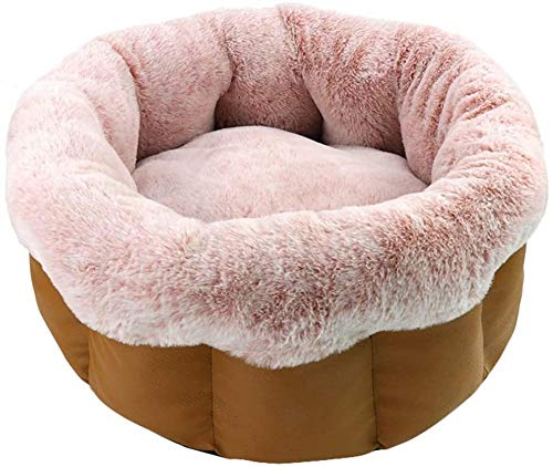JUIO Pet Bed, Cats Cushion Bed, Pet Kitten Kennel Mat Warming Round Soft Sleeping Bed Nests House, Guinea Pigs Hedgehogs Chinchilla Sleeping Kennel Cushion Mat, Three Colors, 43*22*30CM ( Color : A )