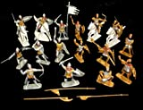 NewBrand Bmc233a Russian Knights 16 Figures in 16 Poses W/4 Horses (Painted) (60mm) Toy Soldiers War Combat Toy Model Plastic Military
