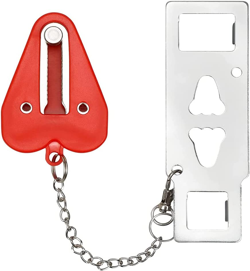 Portable Door Lock for Home Travel Durable Security Door Locks Provide Additional Safety and Privacy for Traveling Hotel Home Apartment