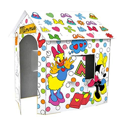AMY-ZW Karton Schauspielhäuser Mickey Mouse-Cartoon-Charakter-Muster Graffiti-Schauspielhaus Farbe Ihres Eigenes Dreidimensionales Puzzle Spielzeug Spiele Kinder (Size : 69X79X84cm)