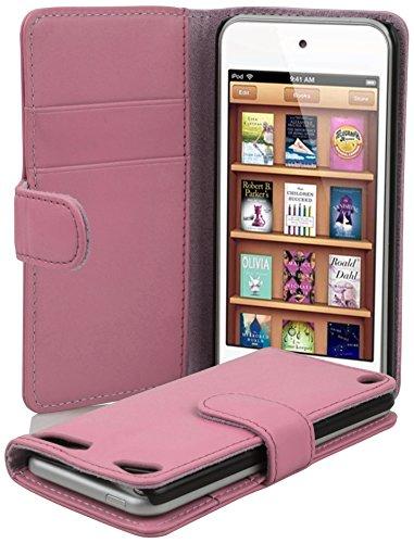 Cadorabo Hülle für Apple iPod Touch 5 in ANTIK ROSA – Handyhülle aus glattem Kunstleder mit Standfunktion und Kartenfach – Case Cover Schutzhülle Etui Tasche Book Klapp Style