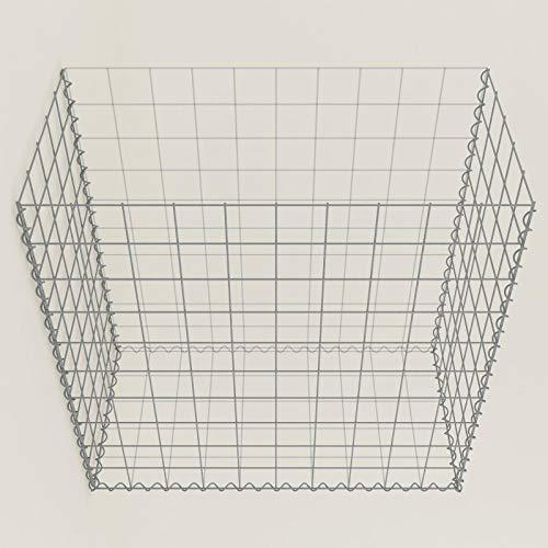GABIONA Pflanzgabionen/Gabione begrünt 100 cm x 100 cm x 50 cm (L x H x T)