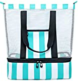 Best Beach Bags For Moms - BLUBOON Mesh Beach Tote Bag with Cooler Compartment Review
