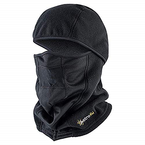 AstroAI Balaclava Ski Mask Winter Face Mask for Cold Weather Windproof Breathable for Men Women Skiing Snowboarding & Motorcycle Riding, Black