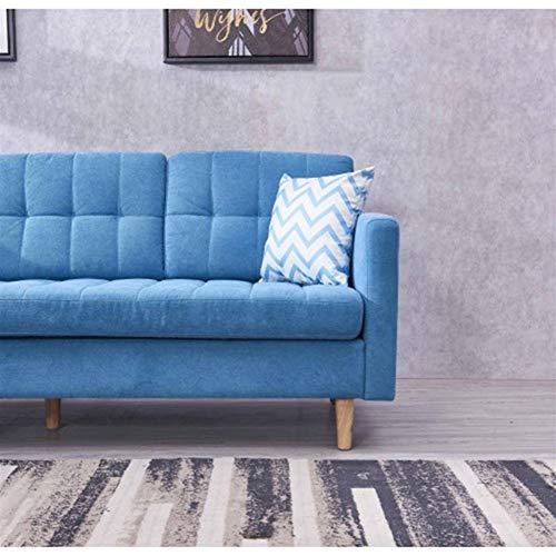 MUCHENG ZI Sofa Weiche Modernes Mid-Century Chaise Anbausofa aus Stoff (Farbe : Blue)