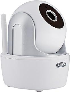 ABUS Überwachungskamera für den Innenraum Schwenk   und Neige Kamera   WLAN   Infrarot Nachtsicht   Zugriff via App   weiß   00357