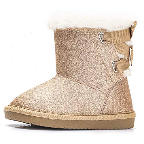 UGG Baby Keelan Glitter Ankle Boot, Gold, 0/1 M US Infant