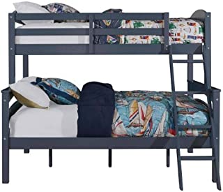 Better Homes and Gardens Leighton Twin-Over-Full Bunk Bed, Graphite Blue