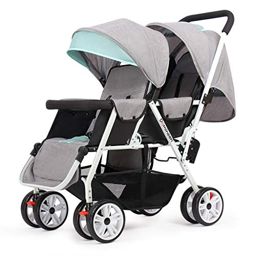 ダブル赤ちゃんベビーカー、ベビーカーは、フロントと後部座席に折り畳むことができるツイン幼児、簡単にストアAセカンドベビーカー軽量ダブルベビーカーへ (Color : C)