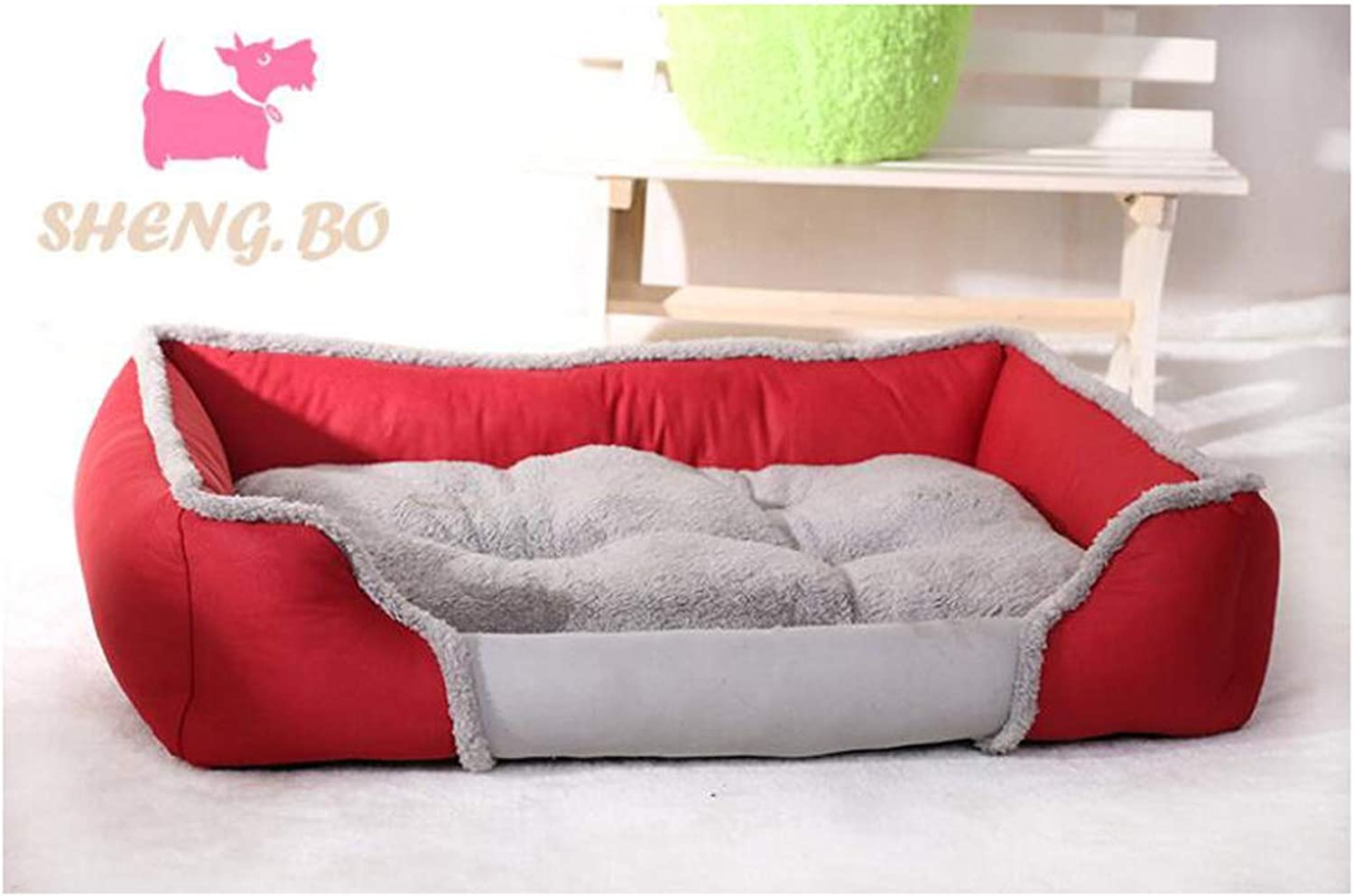 Hhrong Pet Nest Warm Padded Mat Bite Creative Bed Nonslip Breathable Latest Canvas Warm Pet Nest, Mattress Soft Warm (color   Red, Size   XL)