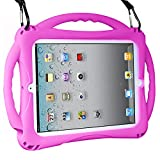 TopEsct Kids Case for ipad 2 3 4, Shockproof Handle Stand Case with Pencil Holder Compatible with Apple iPad 2,iPad 3,iPad 4(iPad 2/3/4, Purple)