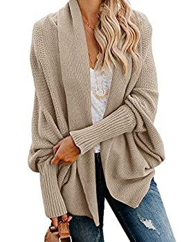 Imily Bela Women s Kimono Batwing Cable Knitted Slouchy Oversized Wrap Cardigan Sweater