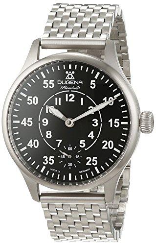 "Dugena Herren-Armbanduhr EPSILON 6 ""Flieger"" Analog Handaufzug Edelstahl 7090060"