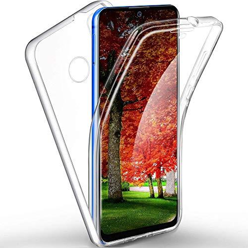 Funda para Xiaomi Mi 9 SE Silicona,Carcasas[Carcasa Protectora 360 Grados Full Body] Transparente Suave Ultrafina Gel Silicona TPU+PC Anti-Choque Anti-Arañazos Protectora Case