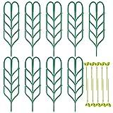 RUMIA Lot de 9 grilles de jardin avec 10 serre-câbles pour plantes grimpantes, mini cadres de treillage pour plantes grimpantes artificielles, support pour outils de jardin