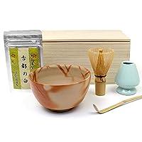 備前焼 抹茶茶碗 ギフト 抹茶点て一式 6点セット 茶道具 木箱入 z ほんぢ園
