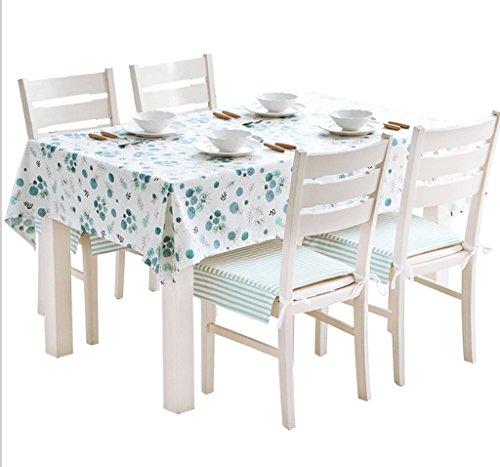 Tissu Nappe Européenne Pastorale Rectangulaire Table Basse Nappe Coton Petit Frais Twist Plante Impression Nappe Cuir Texture Huile Imperméable (taille : 100 * 100cm)