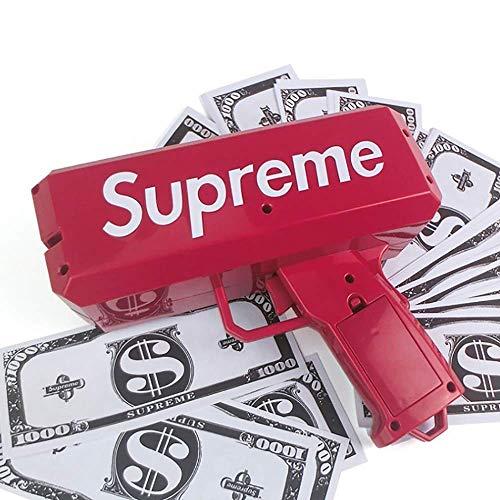 WXG1 Dinero en Efectivo Tirador de Pistola de Juguete - eléctrico de Disparo Continuo Dinero Pistola, Lisa de Billetes de dispensación, Simples Conveniente, Suministros Game Party Props