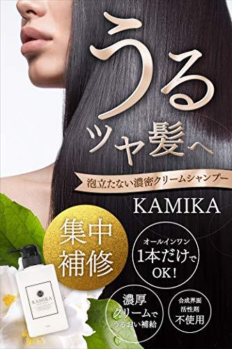 KAMIKAカミカクリームシャンプー[黒髪白髪ケアオールインワンパラベンフリーヘマチンメリタン]400g/1本