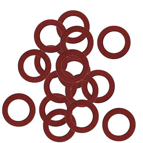 100er SET Dichtung 16 x 24 mm für Überwurfmutter 3/4 Zoll Fiber/Dichtungsring/Vulkanfiber-Ring/Dichtring/Faserdichtung /