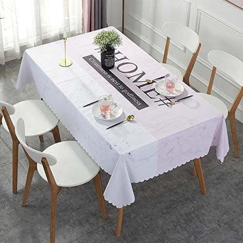 Dthlay Rechthoekig tafelkleed van pvc, waterdicht en verbrandingsvrij, gemakkelijk schoon te maken