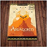 QQWER Aragorn Poster Wandkunst Leinwand Malerei Poster Und